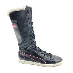 Puma Polar Kick Winter Faux Fur Calf High Boots